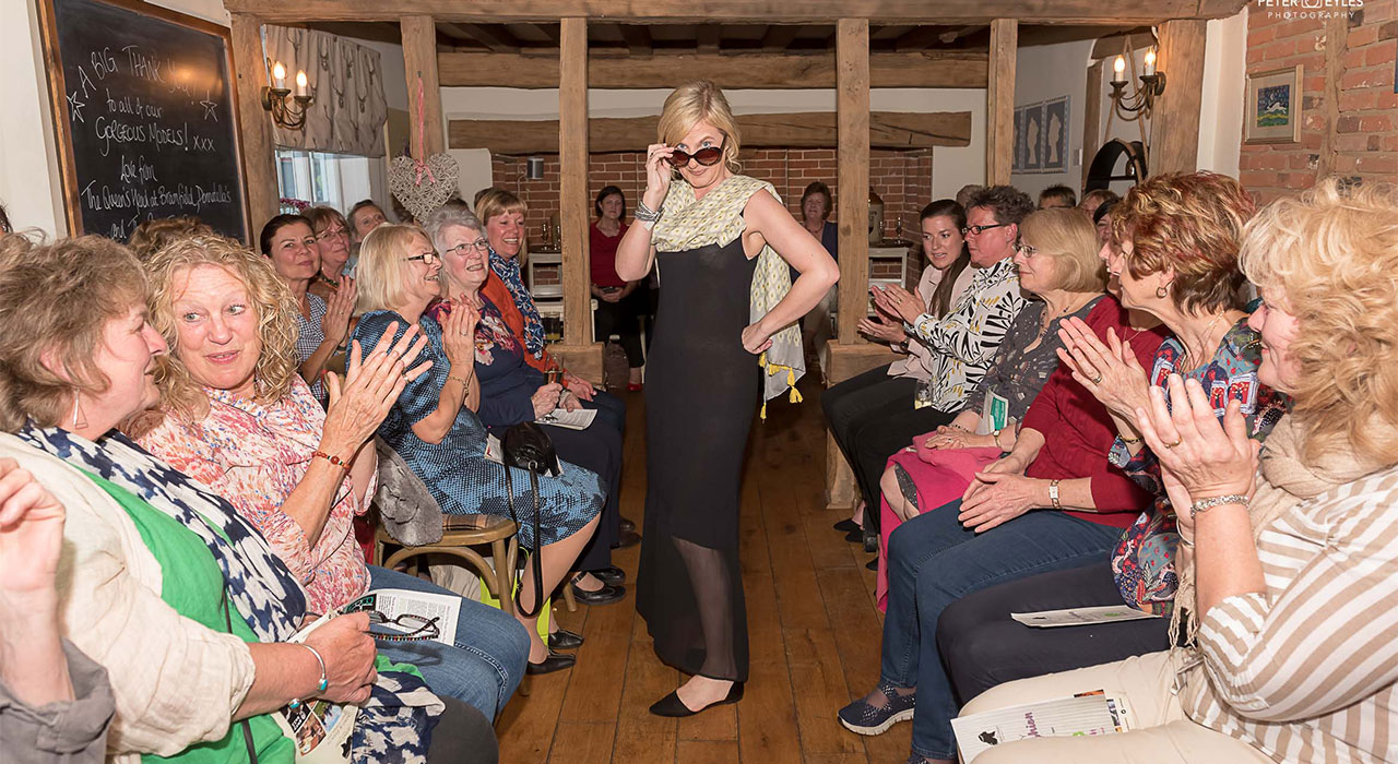 Raising charity cash with fashion and fizz